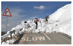 Karen Frenkel Extreme Cycling Avalanche At Holme Moss